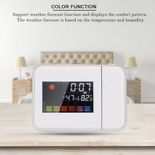Projection Digital Weather Black LED Alarm Clock Snooze Color Display / LED Hot