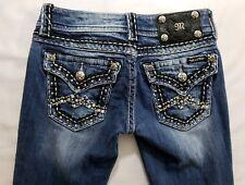 Miss Me Skinny Fit Womens Denim Blue Jeans Size 24 x 29 Slim Dark Wash Low Rise