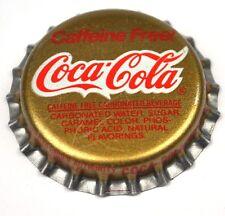 Coca Cola CAFFEINE FREE! TAPPO BOTTIGLIA USA Soda sigillo in plastica