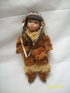 Beautiful Bisque Native American Doll Offered by Hitty Artist