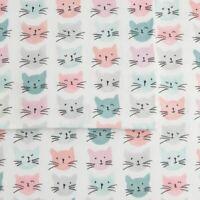 Cuddl Duds QUEEN Sheet Set 100% Cotton Heavyweight Flannel Cats Sheets 4 Piece