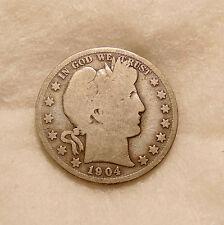 1904-S Barber Half Dollar - Scarce Date - Nice Looking Coin