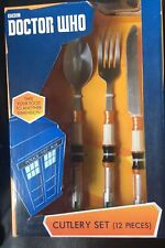 DOCTOR WHO ~ 10th Doctor 12-Piece Sonic Screwdriver Cutlery Set (50 Fifty) #NEW
