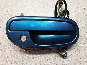 1990 -1996 Nissan 300zx Z32 RT Right Passenger Side Exterior Door Handle Blue OE