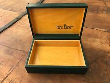 Estuche ROLEX Case - Used - Green Wood - Relojes Watches Montres