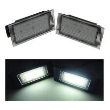 RENAULT CLIO MK3 (07 18 SMD LED PLAQUE IMMATRICULATION remplacement unités 6000K
