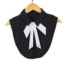 Lady Fake Collar Bib False Collar Half Shirt Lapel Necklace Rhinestone Choker