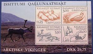 Greenland Block 2000.02.21. Arctic Vikings II - Arctic Fauna Polar Bear - MNH
