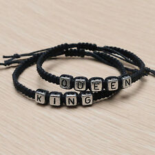Couple Handmade Bracelets King And Queen His Hers Charm Bracelet Bangle Gift  ^^
