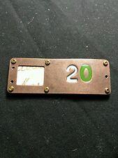 Steampunk Picture Frame Bronze Colored Miniature Rectangle