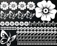 98-teiliges Kit Autocollants Pour Voiture Hibiscus Fleurs Papillons HAWAII2