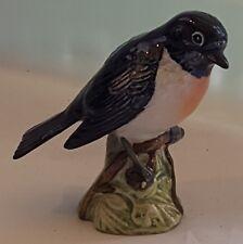 Beswick vintage Art Deco antique ceramic Stonechat bird ornament figurine