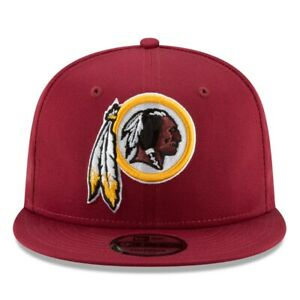 WASHINGTON REDSKINS NEW ERA 9FIFTY HAT MAROON SNAPBACK
