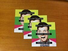 """DILLON FRANCIS - """"Money Sucks, Friends Rule"""" Promo STICKERS - 3 COUNT - Mint"""