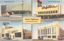 ONTRA CAFETERIAS Los Angeles, CA Wilshire Blvd 1951 Vintage Linen Postcard