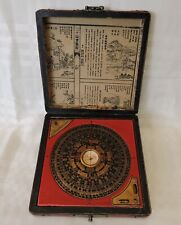 Vintage Feng Shui Luo Pan (Chinese Compass) with Red leather Box