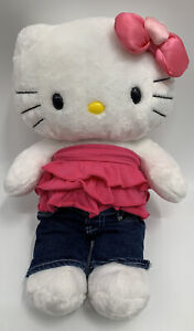 "Build A Bear Hello Kitty White with Pink Bow 17"" Outfit"
