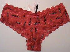 SEXY LITTLE THINGS cheeky-L NUTCRACKER Victoria's VS christmas panties red NWT