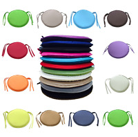1/2/4/6 X Extra Thick Tie On Circle Round Chair Seat Cushions Pads Garden Dining