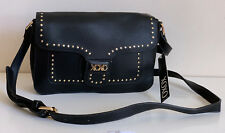 NEW! XOXO BLACK GOLD STUDS LEATHER CROSSBODY MESSENGER SLING BAG PURSE SALE