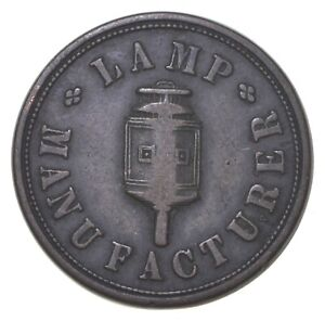 Authentic ORIGINAL Hard Times Token - 1847 Lamp Manufacturer *568