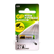 1 x GP 27A Alkaline Super battery 12V MN27 A27 GP27A E27A EL812 L828 Pack of 1