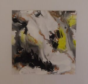 Abstract Painting Inspired By New Forest Stream By Artist Christine Ingram