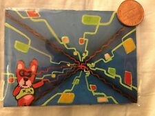 ACEO oil paint animal dimension universe wormhole science abstract outsider folk
