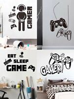4 Gamer Video Game Theme Party Decorations Wall Decal Wall Sticker Free Shippin