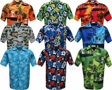Mens Hawaiian Shirt Stag do Fancy Dress Beech Floral Holiday Short Sleeve Casual