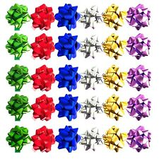 Allgala 30pc Value Pack Christmas Gift Wrapping Bows, 6 Color Assorted