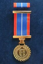 SERBIAN ARMY - MEDAL FOR EXCEPTIONAL RESULTS IN MILITARY SERVICE +PIN RIBBON BAR