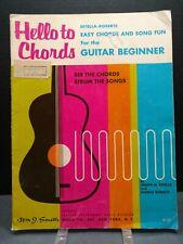 Hello To Chrods Instructional Self Teach Guitar Beginner 1960s Estella Roberts11