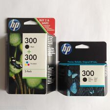 NO 300 2x Negro & 1x COLOR ORIGINAL OEM Inkjet Cartuchos para HP F2423, F2430