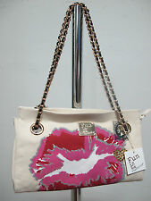 FUN IS NOT EXPENSIVE borsa donna mod.BOCCA col.BEIGE/ROSA ESTATE 2013