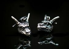 Paar Ohrringe Drache Dragon Ohrschmuck Silber 925 Magie Gothic Earrings