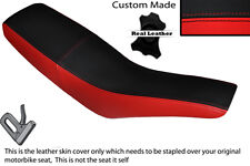RED & BLACK CUSTOM FITS APRILIA RX 50 00-01 DUAL LEATHER SEAT COVER