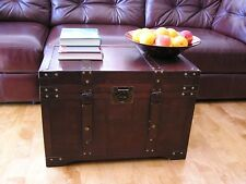 Gold Rush Large Wood Storage Trunk Wooden Hope Chest