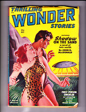 Thrilling Wonder Stories    Oct  1950      Good Girl with UFO on Cover