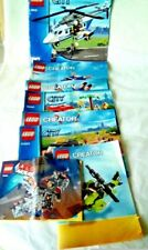 Lego Assorted Official Construction Manuals Lot of 8 Instructional Manuals