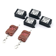 6V 4X 1CH Channel 433MHz Wireless Remote Control Lamp Switch with 2 Transmitter