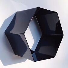 Modern Metal Hexagonal Honeycomb Wall Shelf-Gloss Black Powder Coated Finish