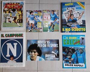 SCUDETTO NAPOLI 1987 A FUMETTI RACCONTATO DA MARADONA + POSTER + RIVISTE