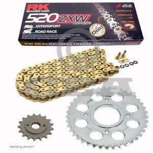 Chain Set Husqvarna Sm 450 R 03-04 Chain RK GB 520 Zxw 112 Gold Open 15/47