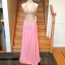 New Faviana 6923 Prom Evening Gown Long Dress  PINK  Size 0 8