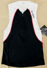 ORCA Cycling Mens Tank Top Size M Black White Jersey Triathlon Singlet Biking