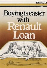 Renault Finance Motorfair Special Offer 1981 UK Market Leaflet Brochure 4 5 18