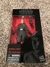 "Hasbro Star Wars The Black Series Exclusive Admiral Captain Piett 6"" Figure New"
