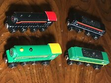 4 Lot Maxim Engines with Tenders Magnetic Wooden Trains like Thomas/Brio/Circo