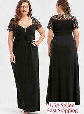 Plus Size Women Long Maxi evening Dress Formal Bridesmaid Prom High Waist 60